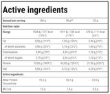 TREC Booster Whey - voedingswaarde tabel