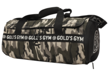 Gold's Gym - Camo Print Barrel Bag - realnutritionbe