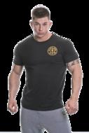 Basic T-shirt with Chest Logo (Black)