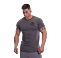 Basic T-shirt with Chest Logo (Grey Marl)