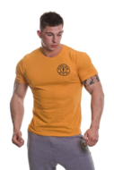 Basic T-shirt with Chest Logo (Gold)