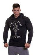 Gold's Gym - Muscle Joe Long Sleeve Hooded T-shirt (Black Marl)