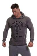 Gold's Gym - Muscle Joe Long Sleeve Hooded T-shirt (Grey Marl)