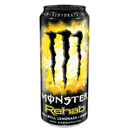 MONSTER Rehab Lemon Energy Drink - Real Nutrition Wholesale