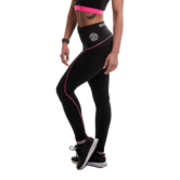 Gold's Gym - Ladies Long Gym Leggings (Black/Pink)